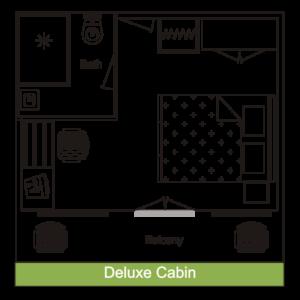 Cabin Layout - Deluxe Cabin - MV Mahabaahu Cruise