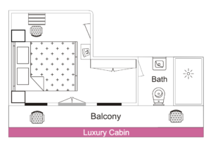 Cabin Layout - Luxury Cabin - MV Mahabaahu Cruise