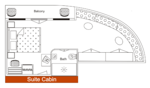 Cabin Layout - Suite Cabin - MV Mahabaahu Cruise
