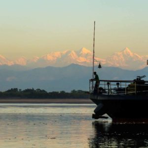 Sailing In The Shadow Of The Himalayas