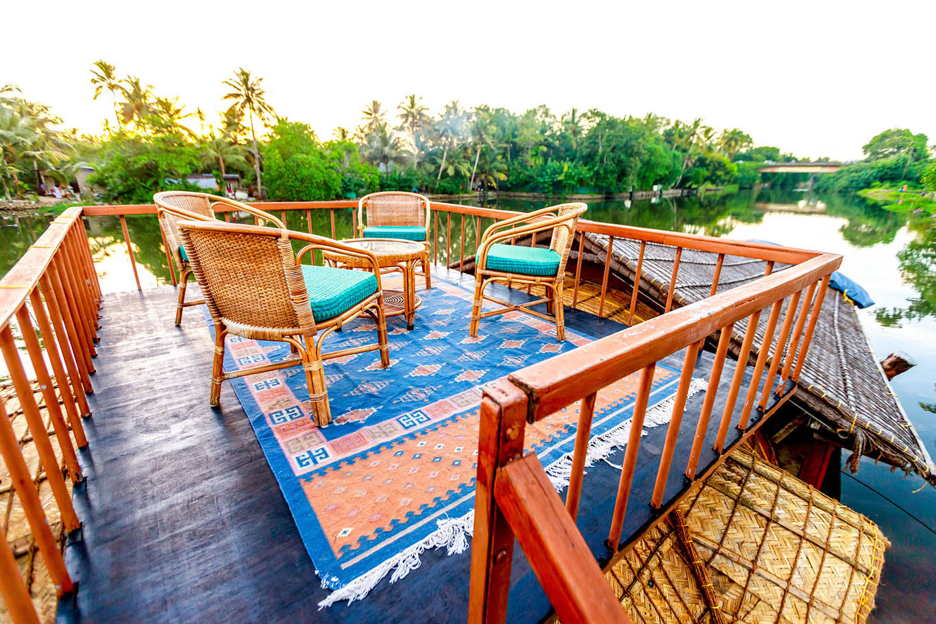 Sundeck onboard RV SauverNigam Backwater River Cruise