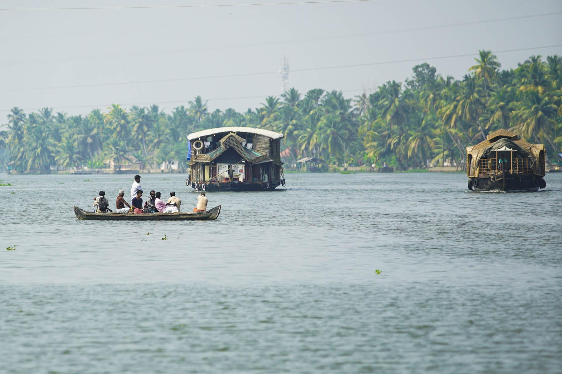 Cruising on Backwaters, Kerala