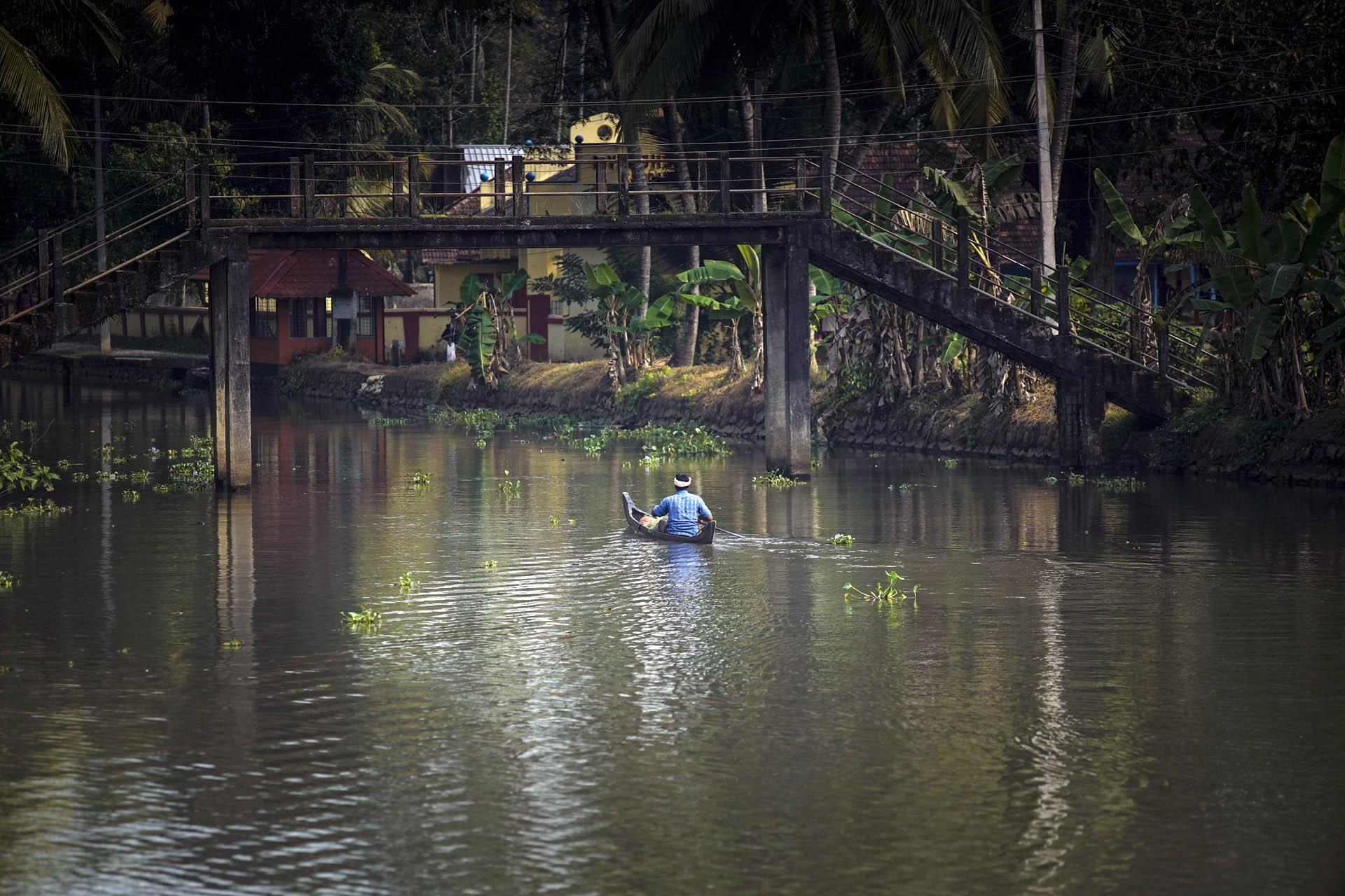 Fisherman at Backwaters, Kerala