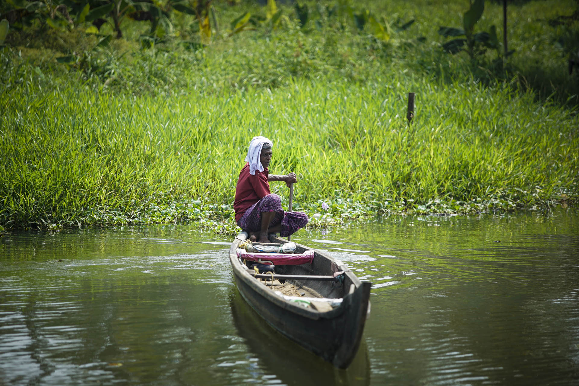 Fisherman at the Backwaters, Kerala