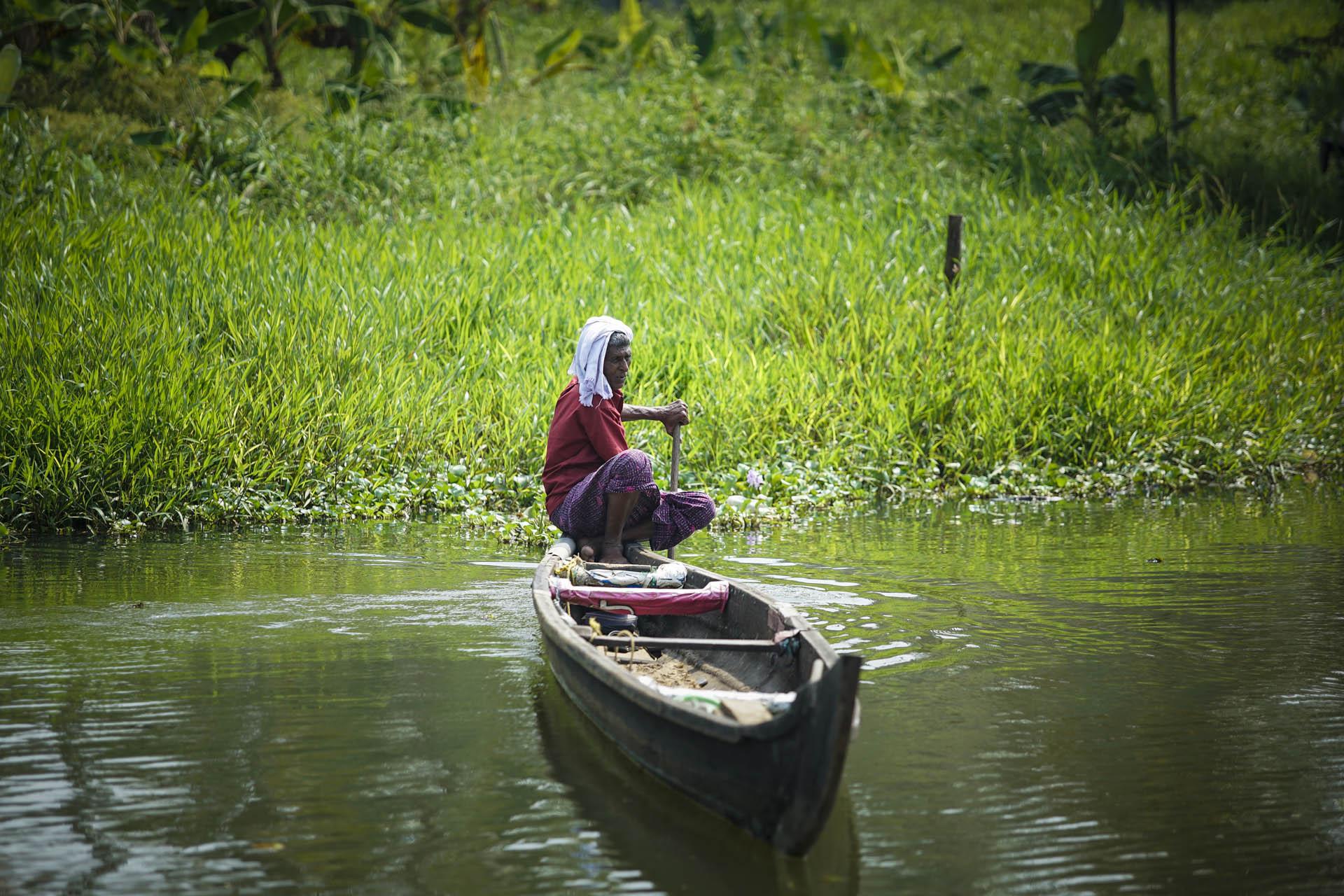 Fisherman at the Backwaters, Kerala
