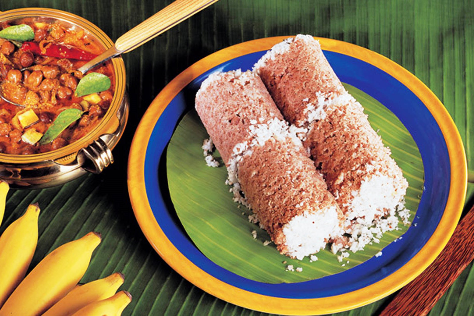 Puttu And Kadala Curry Kerala Cuisine